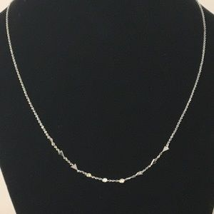 Stella&dot silver necklace.